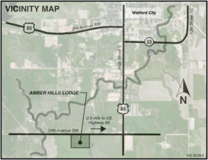 Vicinity Map for Amber Hills Lodging
